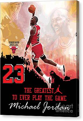 Michael Jordan Greatest Ever Canvas Print by Israel Torres
