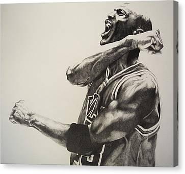 Michael Jordan Canvas Print by Jake Stapleton