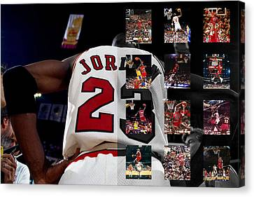 Michael Jordan Canvas Print by Joe Hamilton