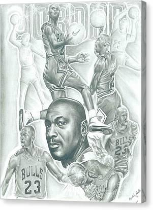 Michael Jordan Canvas Print by Kobe Carter