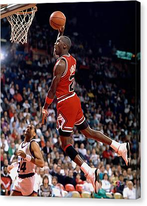 Michael Jordan  Canvas Print by Paint Splat