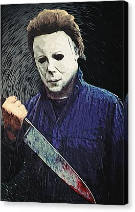 Michael Myers  Canvas Print by Taylan Soyturk