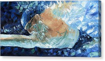 Michael Phelps Canvas Print by Ash Hussein
