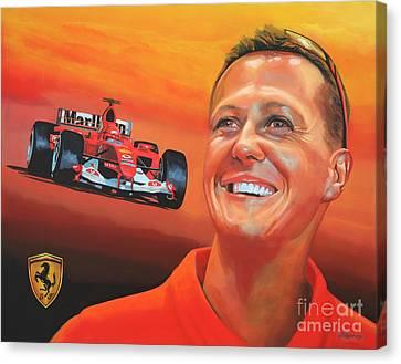 Michael Schumacher 2 Canvas Print by Paul Meijering