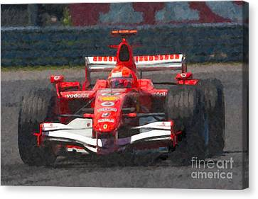 Michael Schumacher Canadian Grand Prix I Canvas Print by Clarence Holmes