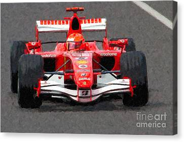 Michael Schumacher Canadian Grand Prix II Canvas Print by Clarence Holmes