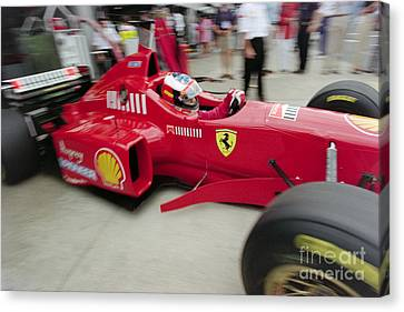 Michael Schumacher Ferrari F310 Canvas Print by Gary Doak