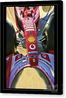 Michael Schumacher Fish Eye Canvas Print by Blake Richards
