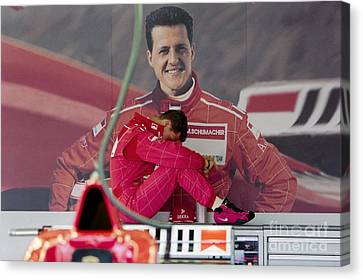 Michael Schumacher Canvas Print by Gary Doak
