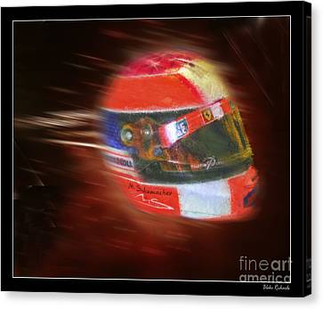 Michael Schumacher Helmet Canvas Print by Blake Richards