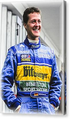 Michael Schumacher Canvas Print by Jose Bispo