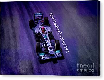 Michael Schumacher Canvas Print by Marvin Spates