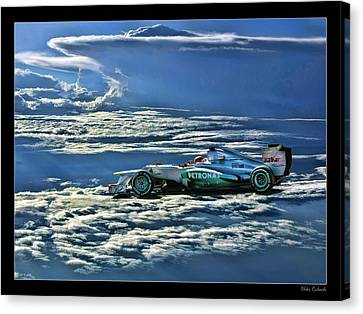 Michael Schumacher Mercedes Canvas Print by Blake Richards