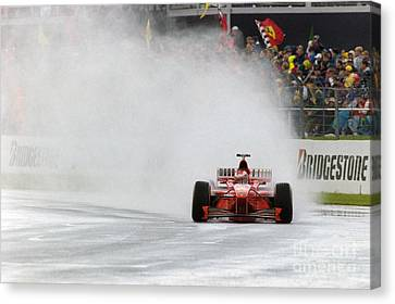 Michael Schumacher Rainmaster Canvas Print by Gary Doak