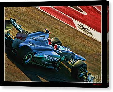 Michael Schumacher Silver Arrows Canvas Print by Blake Richards