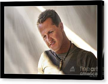 Michael Schumacher The Legend Canvas Print by Blake Richards