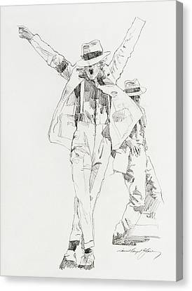 Michael Smooth Criminal Canvas Print by David Lloyd Glover
