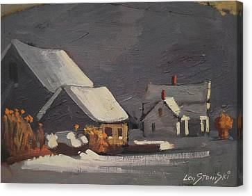 Michalski Farm Canvas Print by Len Stomski