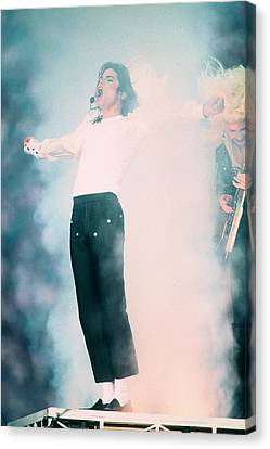 Micheal Jackson Performing On Stage Canvas Print by Retro Images Archive