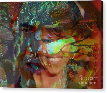 Michelle Barack And Baobab Canvas Print by Fania Simon