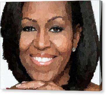 Michelle Obama Canvas Print by Samuel Majcen