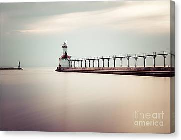 Michigan City Lighthouse Picture Canvas Print by Paul Velgos