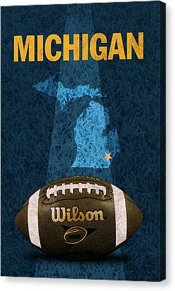 Michigan Football Poster Canvas Print by Design Turnpike