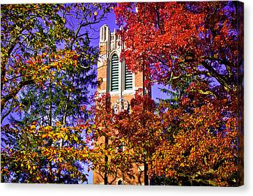Michigan State University Beaumont Tower Canvas Print by John McGraw