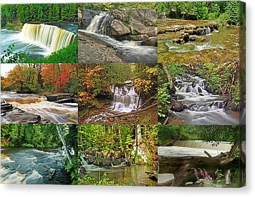 Michigan Waterfall Collection 1 Canvas Print by Michael Peychich