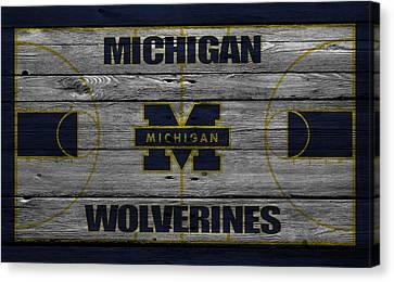 Michigan Wolverines Canvas Print by Joe Hamilton