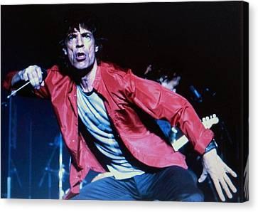 Mick Jagger Poster Canvas Print featuring the photograph Mick Jaggar by Gunter  Hortz