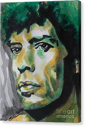 Mick Jagger Poster Canvas Print featuring the painting Mick Jagger by Chrisann Ellis