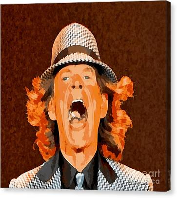 Mick Jagger Poster Canvas Print featuring the painting Mick Jagger by Elizabeth Coats