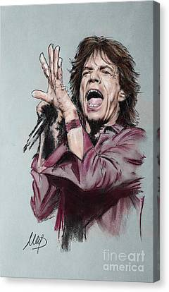Mick Jagger Canvas Print by Melanie D