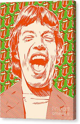 Mick Jagger Pop Art Canvas Print by Jim Zahniser