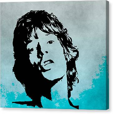 Mick Jagger Poster Canvas Print featuring the digital art Mick Jagger Poster by Dan Sproul