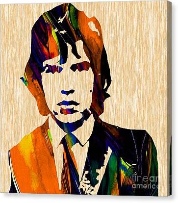 Mick Jagger Rolling Stones Canvas Print by Marvin Blaine
