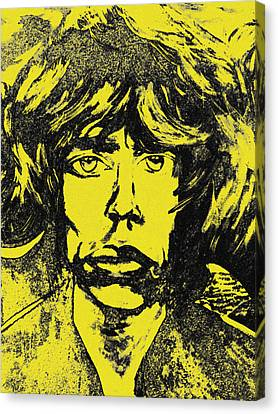Mick Jagger Poster Canvas Print featuring the painting Mick Jagger Two by Kevin J Cooper Artwork