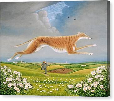 Mick The Miller, 1992 Oils And Tempera On Panel Canvas Print by Frances Broomfield