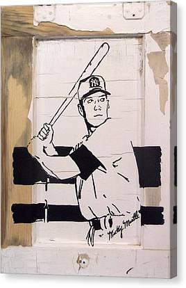 Mickey Mantle Canvas Print by Jill Wells