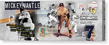 Mickey Mantle Panoramic Canvas Print by Retro Images Archive