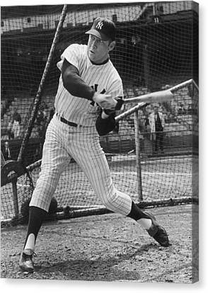 Mickey Mantle Poster Canvas Print by Gianfranco Weiss