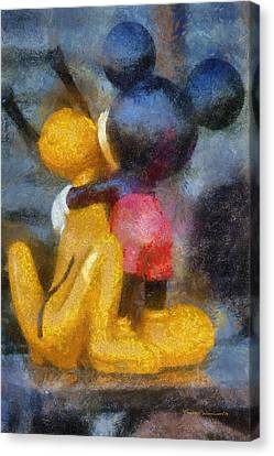 Mickey Mouse Photo Art Canvas Print by Thomas Woolworth
