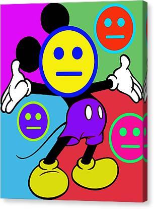 Mickey Smiles Canvas Print by Tony Rubino