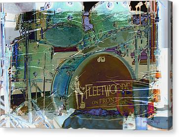 Mick's Drums Canvas Print by Paulette B Wright