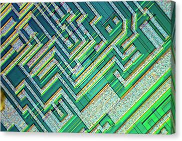Microprocessor Chip Canvas Print by Alfred Pasieka