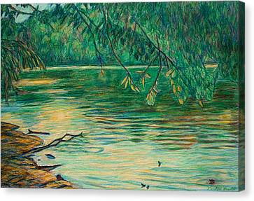 Mid-spring On The New River Canvas Print by Kendall Kessler