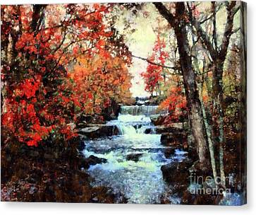 Middle Creek Mill Falls Canvas Print by Janine Riley