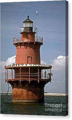 Middle Ground Lighthouse Canvas Print by Skip Willits