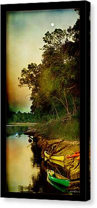 Middle Suwannee Pano Canvas Print by Linda Olsen